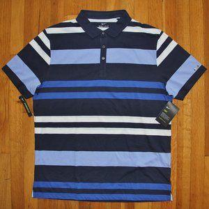 Nike Dri-Fit Striped Short Sleeve Golf Polo Mens L